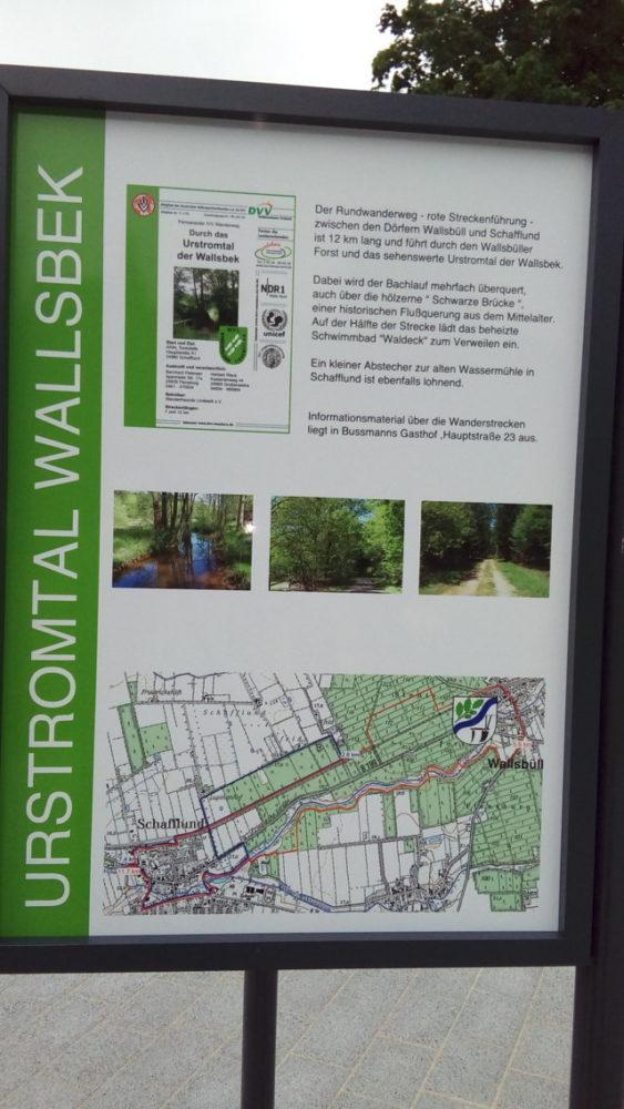 """Stelltafel """"Urstromtal Wallsbek"""""""